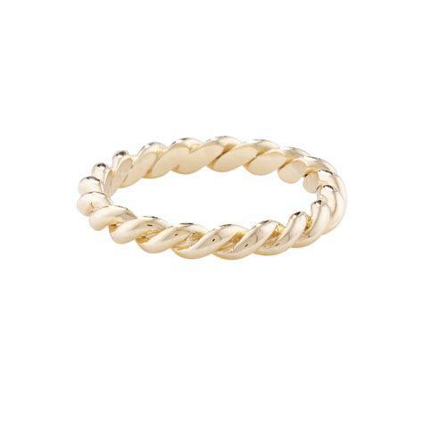 Designer Yellow Gold Rope Stack Ring   London Road Jewellery