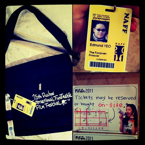 Reached Buchon. Got my sexy festival bag and pass from #pifan