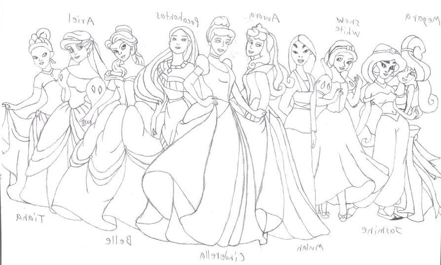 91 Free Coloring Pages Of All The Disney Princesses Images & Pictures In HD