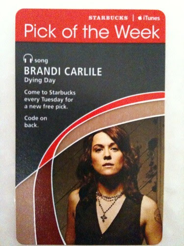 Starbucks iTunes Pick of the Week - Brandi Carlile - Dying Day #fb
