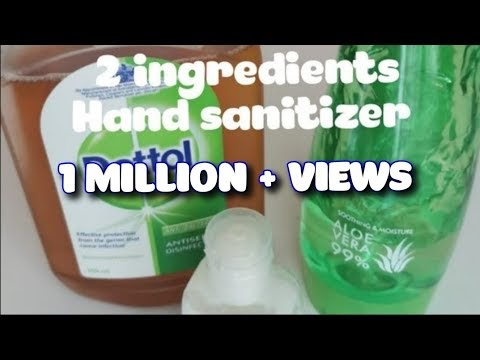 How to make hand sanitizer,hand sanitizer homemade
