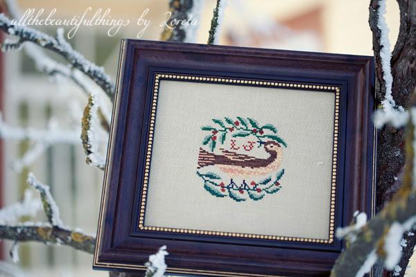 Bird and Wreath (Birds of a Feather)