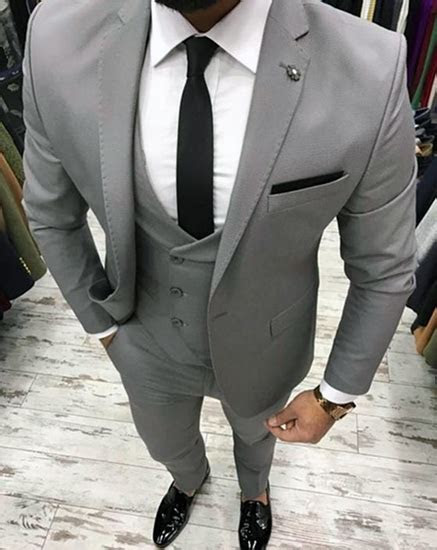 THE DROP   Bespoke suits made for you. Grey three piece suit