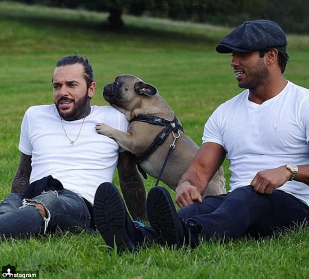 Inconsolable: In August last year, Pete bid farewell to his beloved best friend Ernest, a French bulldog. He paid tribute on Instagram, posting a picture of himself with the canine