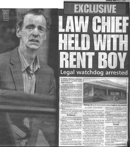 Law Chief held with rent boy - Sunday Mail 3 May 2009 e