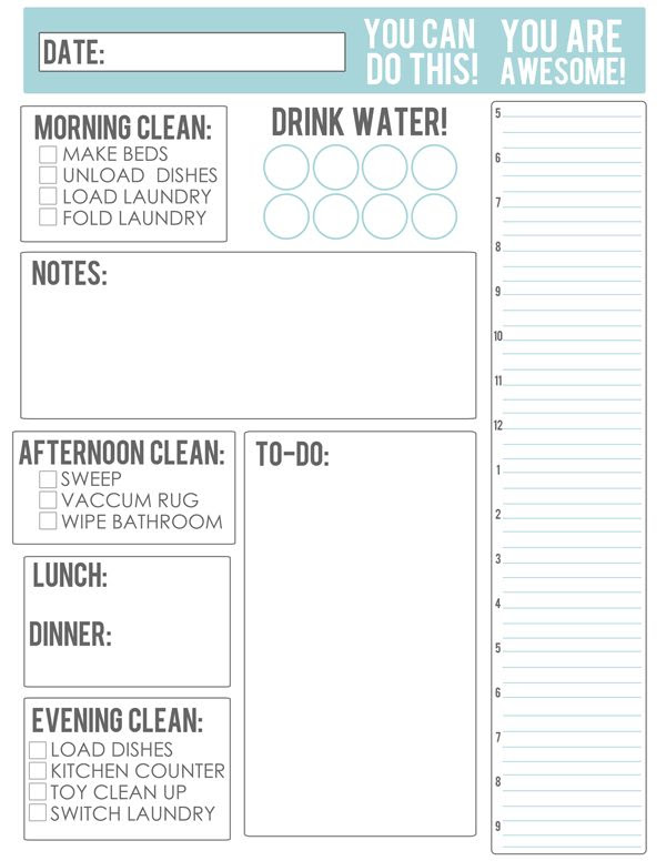 1000+ ideas about Daily Schedule Printable on Pinterest | Daily ...