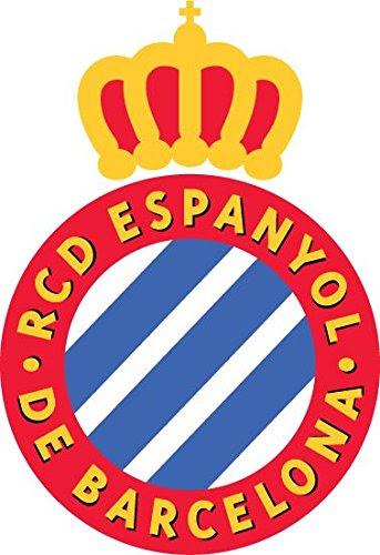 RCD Espanyol Barcelona Spain Soccer Football Alta Calidad De Coche De Parachoques Etiqueta Engomada 10 x 12 cm