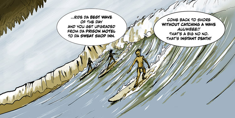 Island Kingdom: Surf or Die: a surf comic by Hiroshi Mori