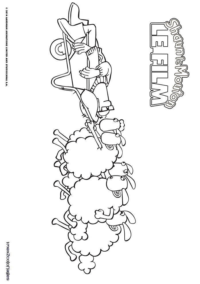Coloriage Des Personnages Du Film Shaun Le Mouton Le Fermier Et Le