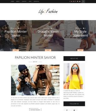 Life Fashion Blogger Templates