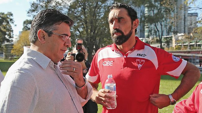 Andrew Demetriou,  Adam Goodes