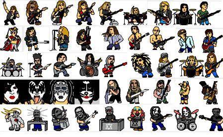 Emoticones Con Músicos De Bandas De Rock Famosas Mil Recursos
