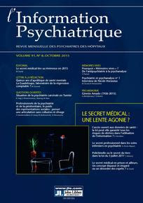 L'information psychiatrique 2015/8