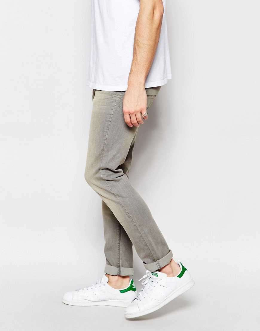 Benetton  United Colors of Benetton Washed Grey Jeans in Slim Fit at