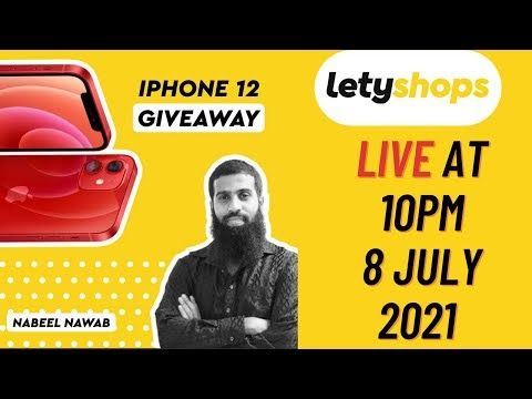 iPhone 12 Live Giveaway with Letyshops