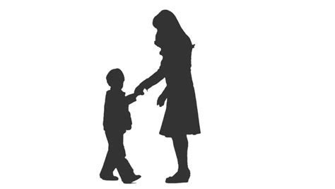 Silhouette Of Boy And Girl Holding Hands at GetDrawings