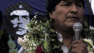 Evo Morales en una escena de Cocalero