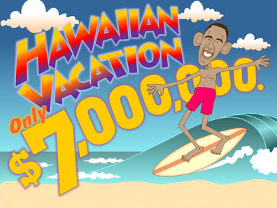 Image result for obama vacations cartoons