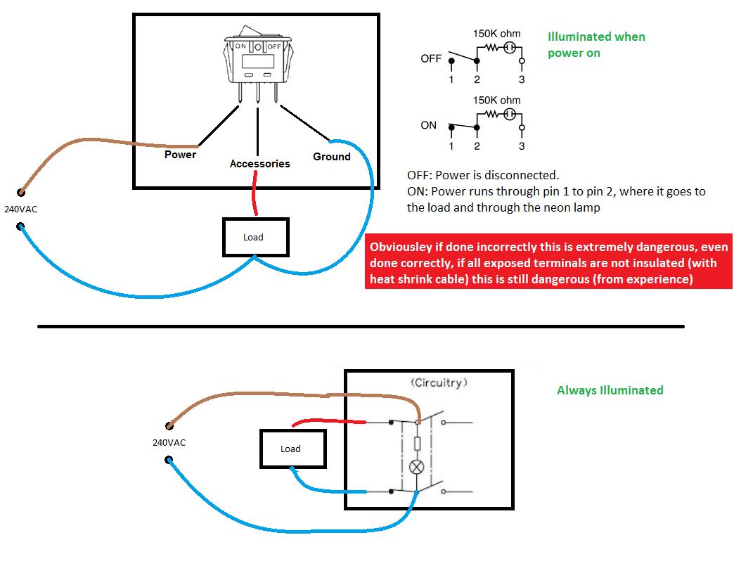 Wiring Radioshack Spst Neon Rocker Switch