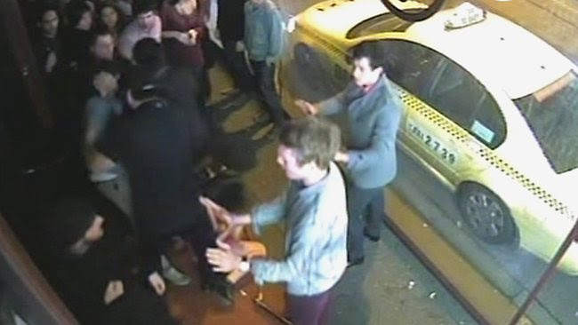 Nightclub attack CCTV