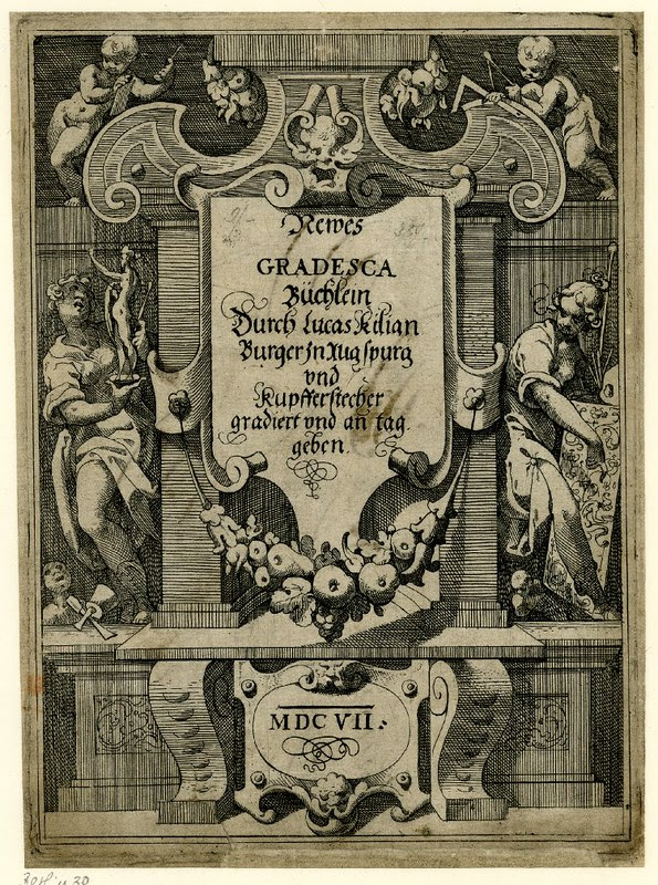 Newes Gradesca Büchlein (title page) by Lucas Kilian (1607)