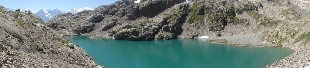 panorama lac blanc mont blanc