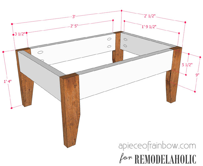 Remodelaholic   Build An Easy Patio Set with Benches and a ...