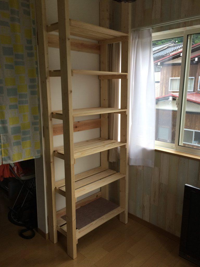 DIYで天井まで伸びる棚を作ってしまいました!   ゆるLife