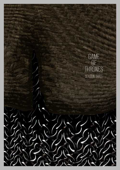 Game of Thrones Season 3 poster. http://wolfcadet.bigcartel.com/product/game-of-thrones-season-3-poster