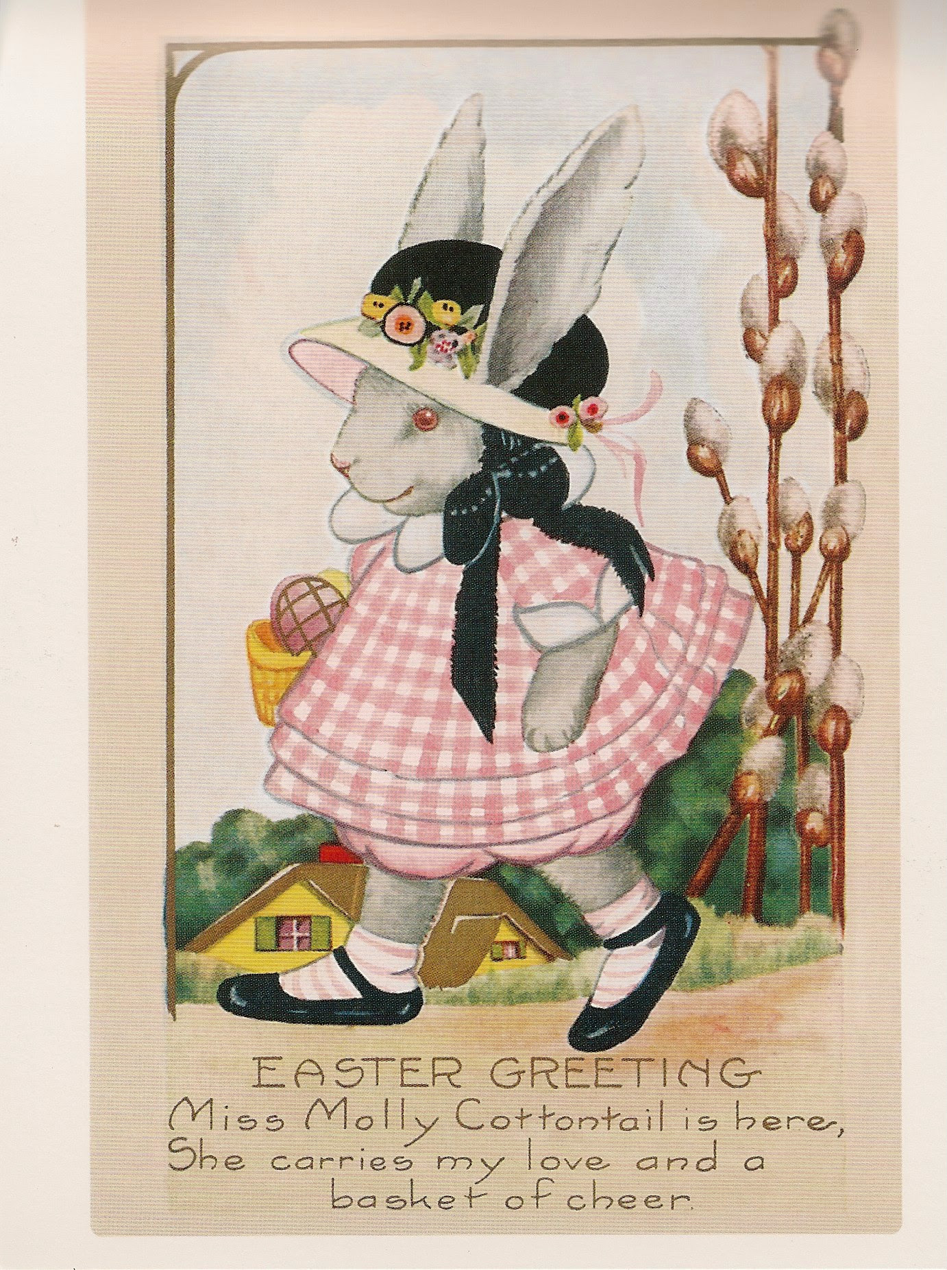 Miss Molly Easter Postcard