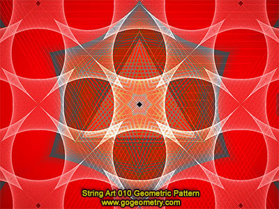 String Art 10: Bézier curves, Geometric Pattern, Symmetry, Software.