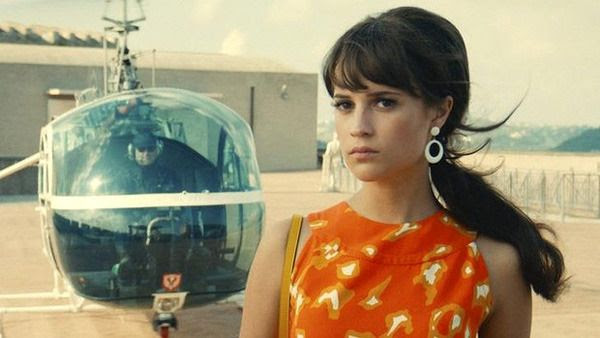 A screenshot of Alicia Vikander as Gabby Teller from THE MAN FROM U.N.C.L.E.
