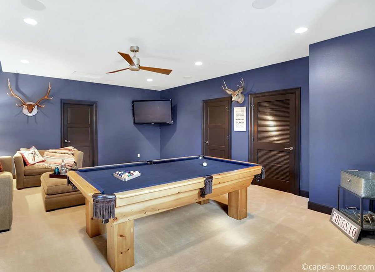 25+ Paint Color Ideas for the Basement Images