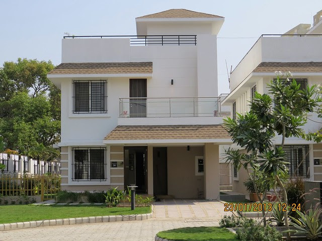 Parch & Main Entrance of the Sample 3 BHK Bungalow at Green City Handewadi Road Hadapsar Pune 411028