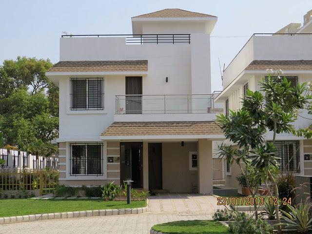 Parch & Main Entrance of the Sample 3 BHK Bungalow at Green City Handewadi Road Hadapsar Pune 411028