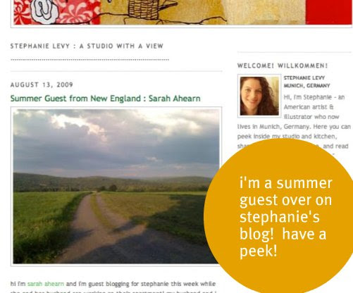 summer guest over on stephanie's blog!