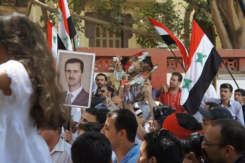 Pro El Assad protesters