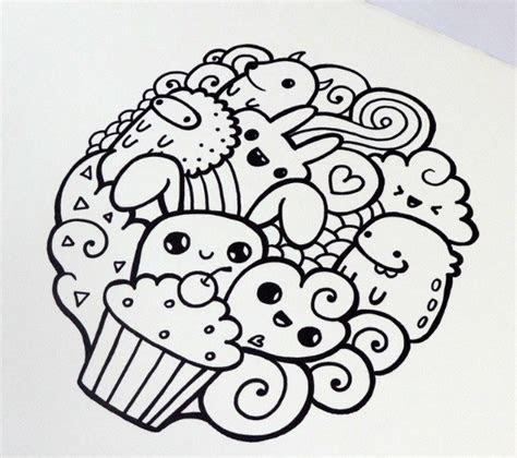 gambar doodle art  mudah  keren lucu