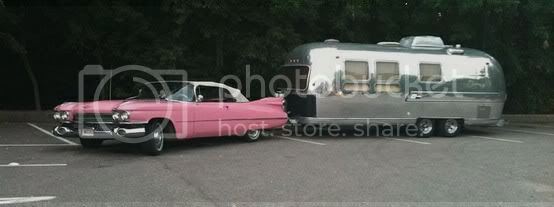 1959 cadillac deville and airstream trailer