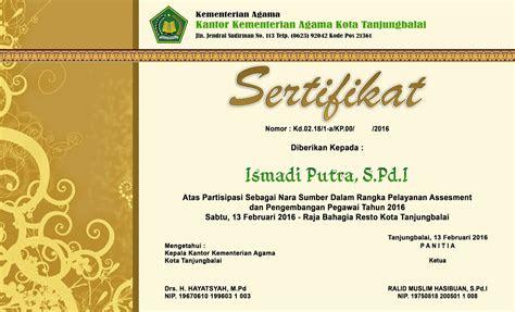cd desain sertifikat format psd putra media