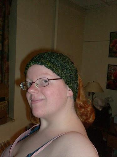 Handspun handknit headband
