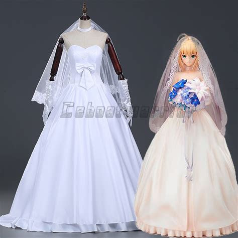 Fate Stay Night Or Fate Zero Saber White Wedding Dress
