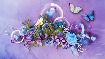 Free Flowers And Butterflies And Hearts Download Free Clip Art