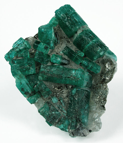 Emerald Crystals from Kagen - Gemstone Image