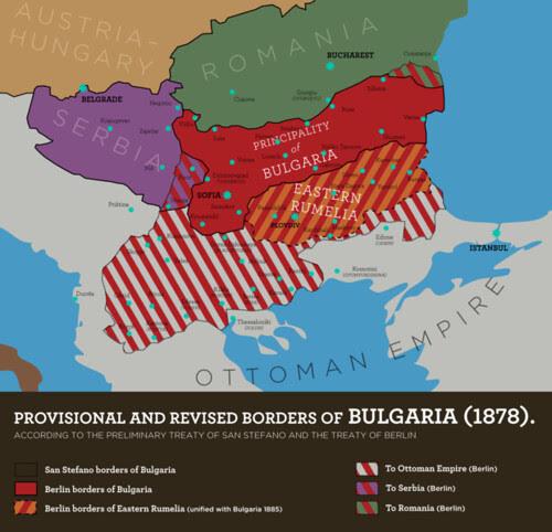 Bulgaria according to the Treaty of San Stefano (1878)