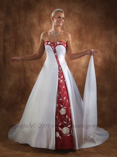 Black white and red wedding dresses   Luxury Brides