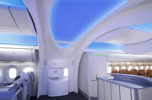 Passenger entrance on mockup interior of Boeing's 787