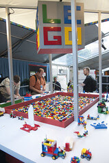 LEGO Pit in Mason St. Tent, Oracle OpenWorld & JavaOne + Develop 2010, Moscone North