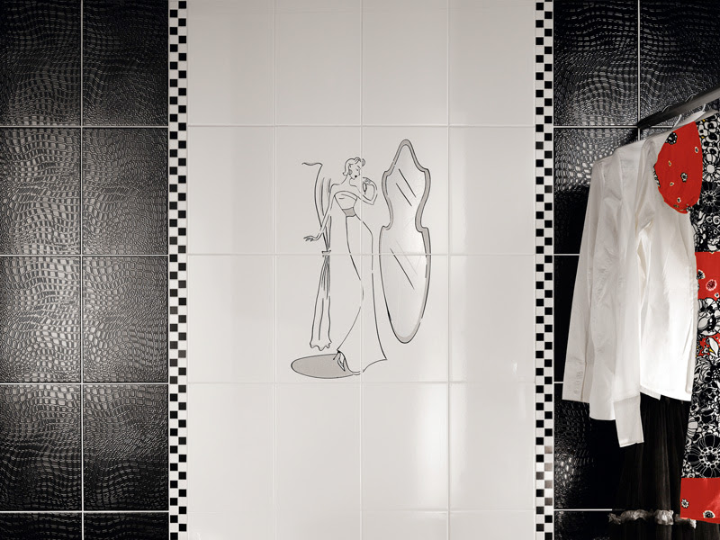 Beautiful Wall Tiles For Black And White Bathroom – York by ...