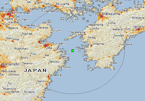 Overall Green Earthquake Alert In Japan On 04 Dec 2017 0754 Utc